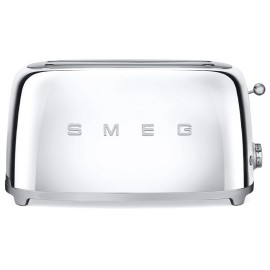 SMEG TOASTER 4 SLICES 50'S STYLE POLISHED STAINLESS STEEL TSF02SSEU