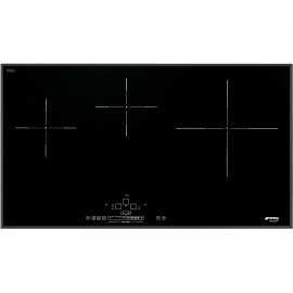 SMEG INDUCTION HOB SIH5935B - 90 CM BEVELLED EDGES AND REDUCED DEPTH