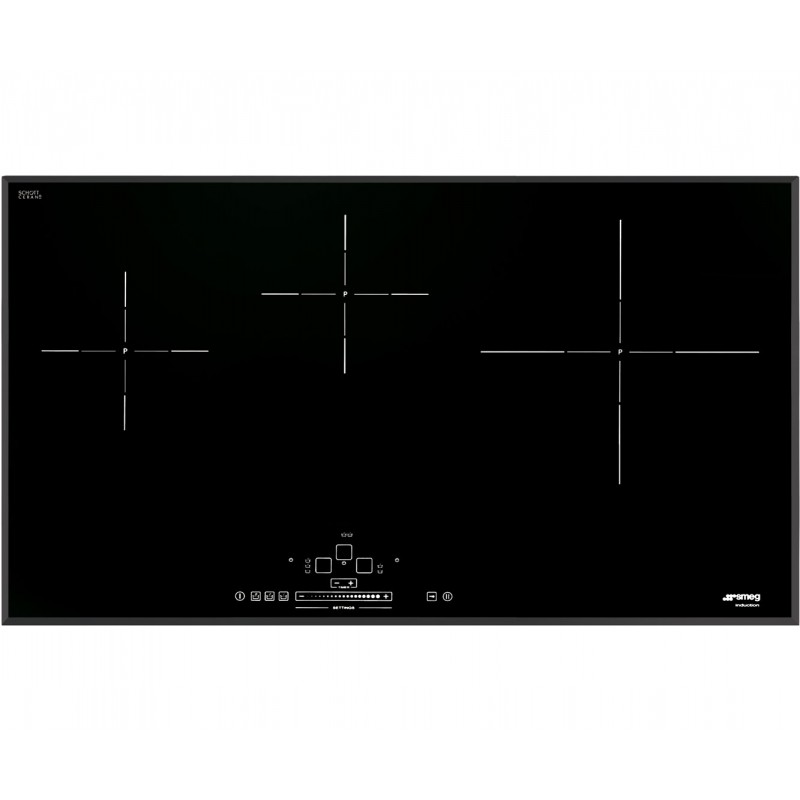 Table de cuisson induction smeg sih5935b 90 cm bord for Table induction 90 cm