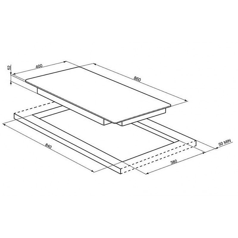 table de cuisson induction smeg sih5935b 90 cm bord. Black Bedroom Furniture Sets. Home Design Ideas