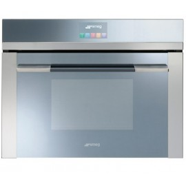 SMEG COMPACT COMBI MICROWAVE OVEN SF4140MC STAINLESS STEEL LINEA DESIGN 60 CM