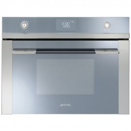 SMEG COMPACT MICROWAVE OVEN SF4120M STAINLESS STEEL LINEA DESIGN 60 CM