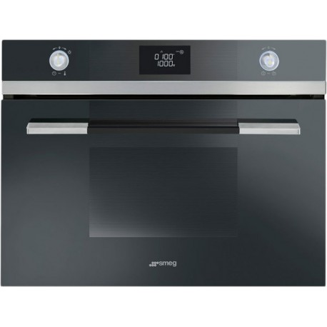SMEG COMPACT COMBI MICROWAVE OVEN SF4140M STAINLESS STEEL LINEA DESIGN 60 CM