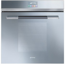 SMEG PYROLITIC MULTIFUNCTION OVEN SFP140SE SUPERSILVER GLASS LINEA DESIGN 60 CM