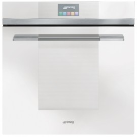 SMEG PYROLITIC MULTIFUNCTION OVEN SFP140BE WHITE GLASS LINEA DESIGN 60 CM
