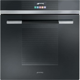 SMEG PYROLITIC MULTIFUNCTION OVEN SFP140NE BLACK GLASS LINEA DESIGN 60 CM