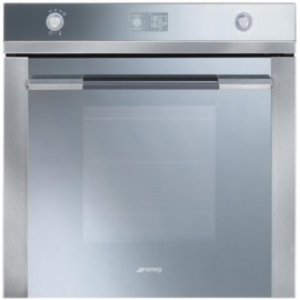 SMEG ELECTRIC THERMOVENTILATED OVEN SF122E STAINLESS STEEL AND SILVER GLASS 60 CM
