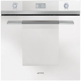 SMEG ELECTRIC THERMOVENTILATED OVEN SF122BE STAINLESS WHITE GLASS 60 CM