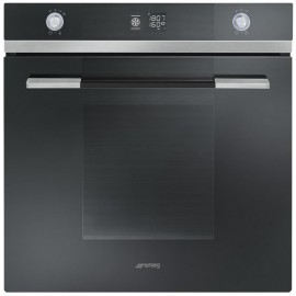 SMEG ELECTRIC THERMOVENTILATED OVEN SF122NE BLACK GLASS 60 CM