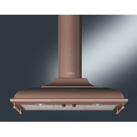 SMEG WALL MOUNTED CHIMNEY HOOD KC19RAE COPPER AESTHETIC CORTINA 90 CM