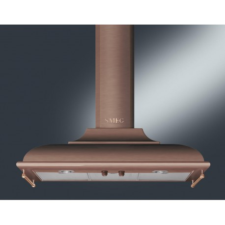 SMEG WALL MOUNTED CHIMNEY HOOD KC19A ANTHRACITE AESTHETIC CORTINA 90 CM