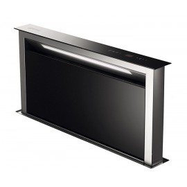 SMEG KDD90VXE ISLAND DOWNDRAFT TELESCOPIC HOOD 90 CM STAINLESS STEEL AND BLACK GLASS