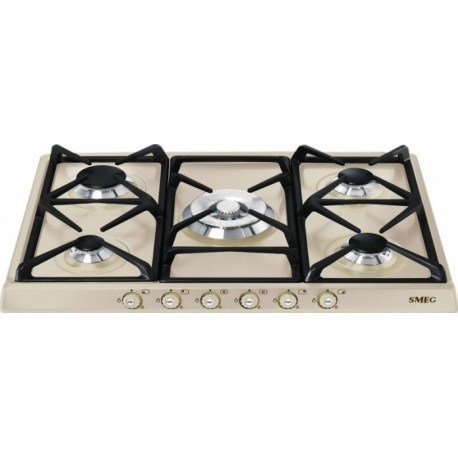 SMEG GAS HOB SR775PO CREAM CORTINA LINE 70 CM |FAB Appliances