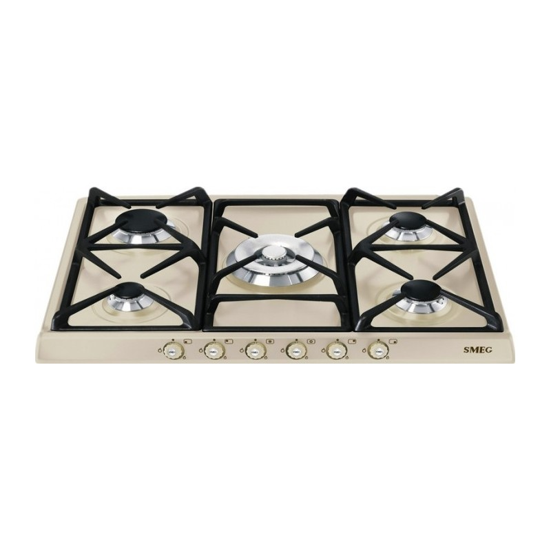 smeg gas hob sr775po cream cortina line 70 cm fab appliances. Black Bedroom Furniture Sets. Home Design Ideas
