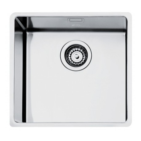 SMEG VSTR50-2 MIRA UNDERMOUNTED KITCHEN SINK SINGLE BOWL BRUSHED STAINLESS STEEL
