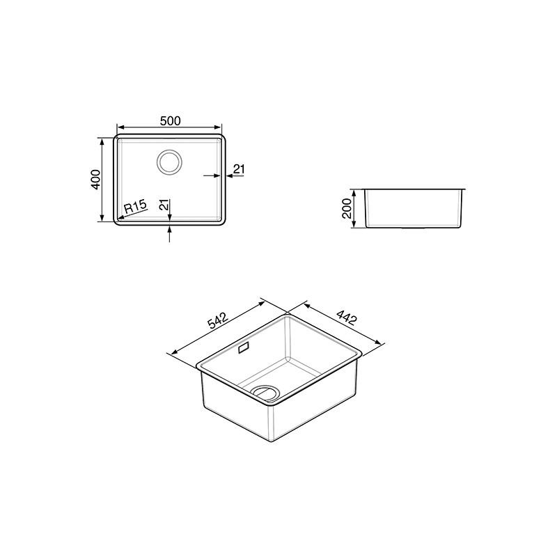 smeg vstr50 2 vier encastrable mira sous plan 1 cuve. Black Bedroom Furniture Sets. Home Design Ideas