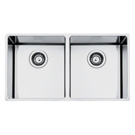 SMEG VSTR3434-2 MIRA KITCHEN SINK UNDERMOUNTED 2 BOWLS BRUSHED STAINLESS STEEL