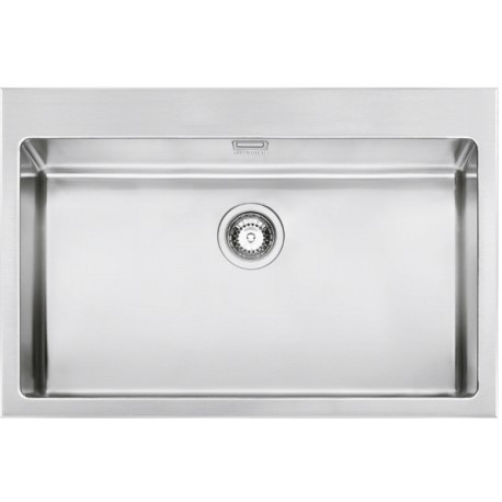 SMEG VQR71RS MIRA KITCHEN SINK SINGLE BOWL BRUSHED STAINLESS STEEL