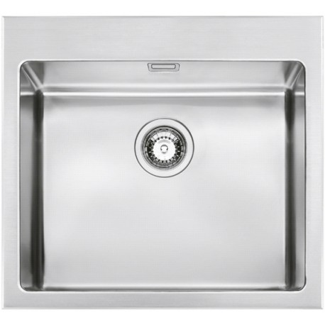 SMEG VQR50RS MIRA KITCHEN SINK SINGLE BOWL BRUSHED STAINLESS STEEL