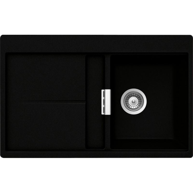 fregadero schock horizont d100 a de 1 seno cristadur negro. Black Bedroom Furniture Sets. Home Design Ideas