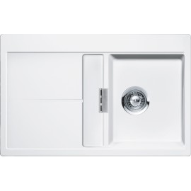 SCHOCK KITCHEN SINK HORIZONT D100 A - 1 BOWL CRISTADUR POLARIS EXTRA WHITE