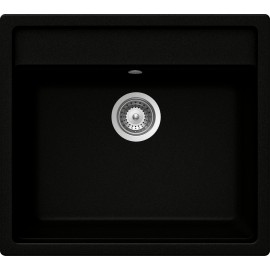 SCHOCK VERO N100 KITCHEN SINK SINGLE BOWL CRSTADUR PURE BLACK