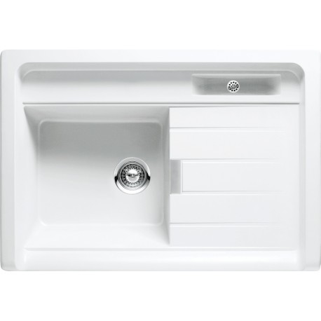 SCHOCK COUNTERTOP KITCHEN SINK LARGO M100 - 1 BOWL CRISTADUR POLARIS EXTRA WHITE