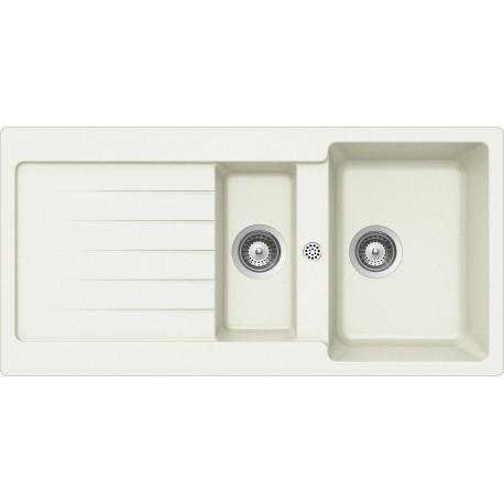 SCHOCK KITCHEN SINK TYPOS D150 AP - 1.5 BOWL CRISTALITE WHITE ALPINA