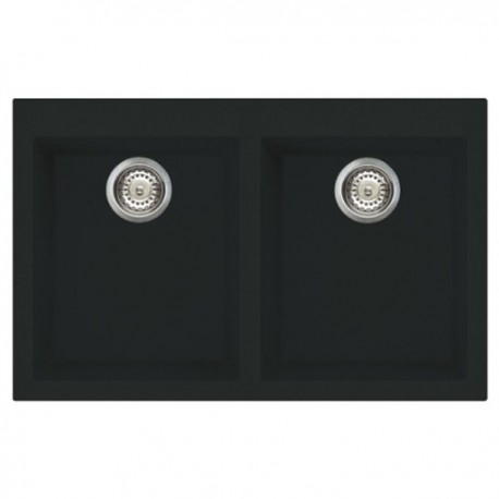 SMEG SYNTHETIC KITCHEN SINK VZ3434N RIGAE SERIES 2 BOWLS BLACK