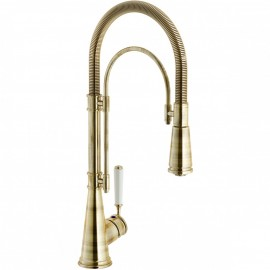 NOBILI SINGLE LEVER SINK MIXER TAP SERIES 'CHARLIE' PULL OUT SPRAY BRONZE