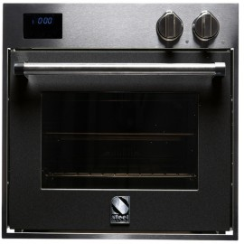 STEEL MULTIFUNCTION OVEN GENESI SERIES GFE6 STAINLESS STEEL AND ANTHRACITE 60 CM EEC A