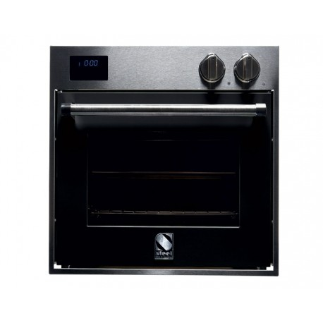 STEEL MULTIFUNCTION OVEN GENESI SERIES GFE6 STAINLESS STEEL AND BLACK 60 CM EEC A