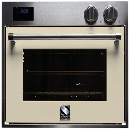 STEEL MULTIFUNCTION OVEN GENESI SERIES GFE6 STAINLESS STEEL AND CREAM 60 CM EEC A