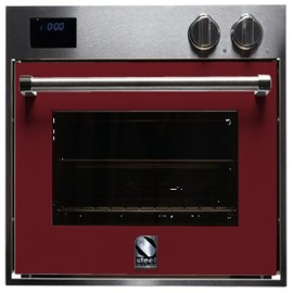 STEEL MULTIFUNCTION OVEN GENESI SERIES GFE6 STAINLESS STEEL AND BORDEAUX 60 CM EEC A