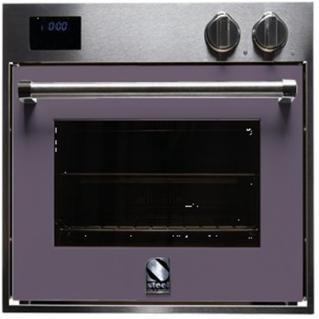 STEEL MULTIFUNCTION OVEN GENESI SERIES GFE6 STAINLESS STEEL AND AMETHYST 60 CM EEC A