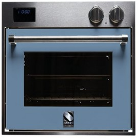 STEEL MULTIFUNCTION OVEN GENESI SERIES GFE6 STAINLESS STEEL AND PASTEL BLUE 60 CM EEC A