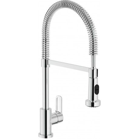 NOBILI NEW ROAD SINGLE LEVER SINK MIXER TAP CHROME PLATED
