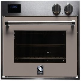 STEEL MULTIFUNCTION OVEN GENESI SERIES GFE6 STAINLESS STEEL AND SAND 60 CM EEC A