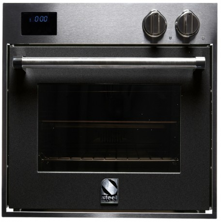 STEEL MULTIFUNCTION COMBI-STEAM OVEN GENESI SERIES GFE6-S STAINLESS STEEL AND ANTHRACITE 60 CM EEC A