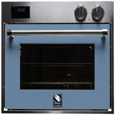 STEEL MULTIFUNCTION COMBI-STEAM OVEN GENESI SERIES GFE6-S STAINLESS STEEL AND PASTEL BLUE 60 CM EEC A