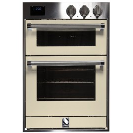 STEEL MULTIFUNCTION DOUBLE OVEN GENESI SERIES GFFE6 STAINLESS STEEL AND CREAM 60 CM EEC A
