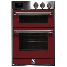STEEL MULTIFUNCTION DOUBLE OVEN GENESI SERIES GFFE6 STAINLESS STEEL AND BORDEAUX 60 CM EEC A