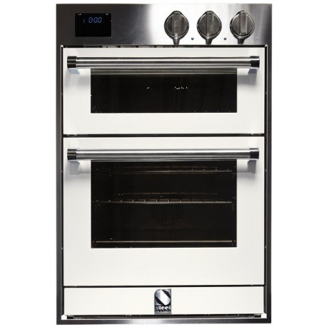 STEEL MULTIFUNCTION DOUBLE OVEN GENESI SERIES GFFE6 STAINLESS STEEL AND NUVOLA 60 CM EEC A