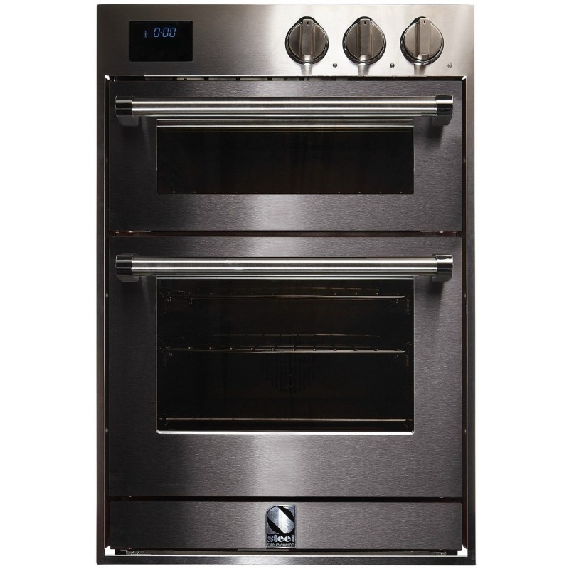 steel double oven multifunction combi steam oven genesi. Black Bedroom Furniture Sets. Home Design Ideas
