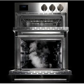 STEEL DOUBLE OVEN MULTIFUNCTION COMBI-STEAM OVEN GENESI SERIES GFFE6-S STAINLESS STEEL 60 CM EEC A