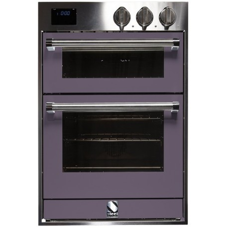 STEEL DOUBLE OVEN MULTIFUNCTION COMBI-STEAM OVEN GENESI SERIES GFFE6-S STAINLESS STEEL AND AMETHYST 60 CM EEC A