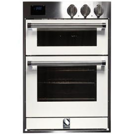STEEL DOUBLE OVEN MULTIFUNCTION COMBI-STEAM OVEN GENESI SERIES GFFE6-S STAINLESS STEEL AND NUVOLA 60 CM EEC A