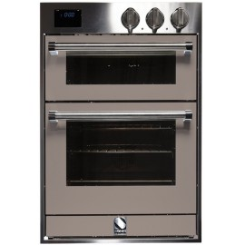 STEEL DOUBLE OVEN MULTIFUNCTION COMBI-STEAM OVEN GENESI SERIES GFFE6-S STAINLESS STEEL AND SAND 60 CM EEC A