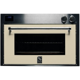STEEL MULTIFUNCTION OVEN GENESI SERIES GFE9 STAINLESS STEEL AND CREAM 90 CM EEC A