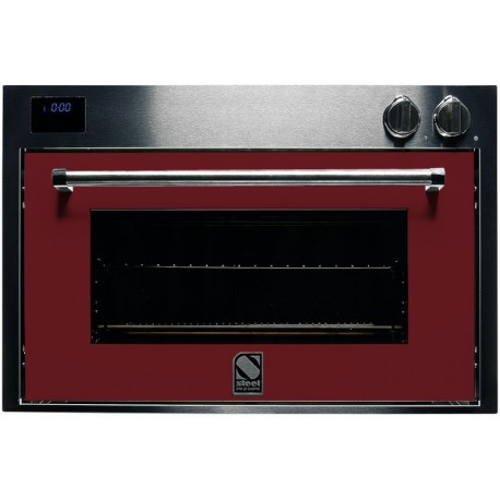 STEEL MULTIFUNCTION OVEN GENESI SERIES GFE9 STAINLESS STEEL AND BORDEAUX 90 CM EEC A